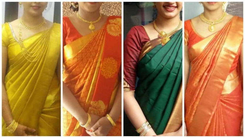 5 Different ways of wearing saree - Simple Craft Ideas