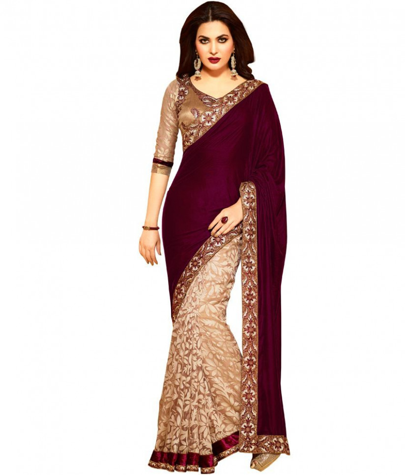 5 Star Multicoloured Georgette Saree - Buy 5 Star