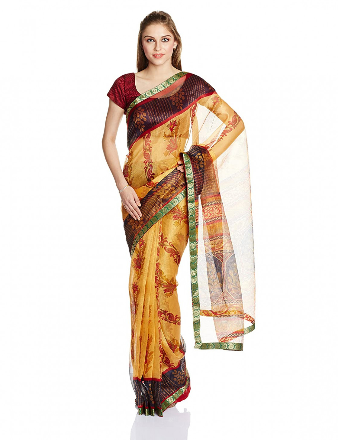 50% discount on Boondh Net Saree with Blouse Piece @350 at