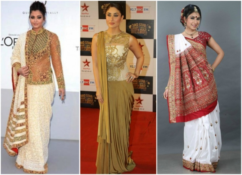 6 Innovative Saree Draping Styles  Makeupandbeauty.com