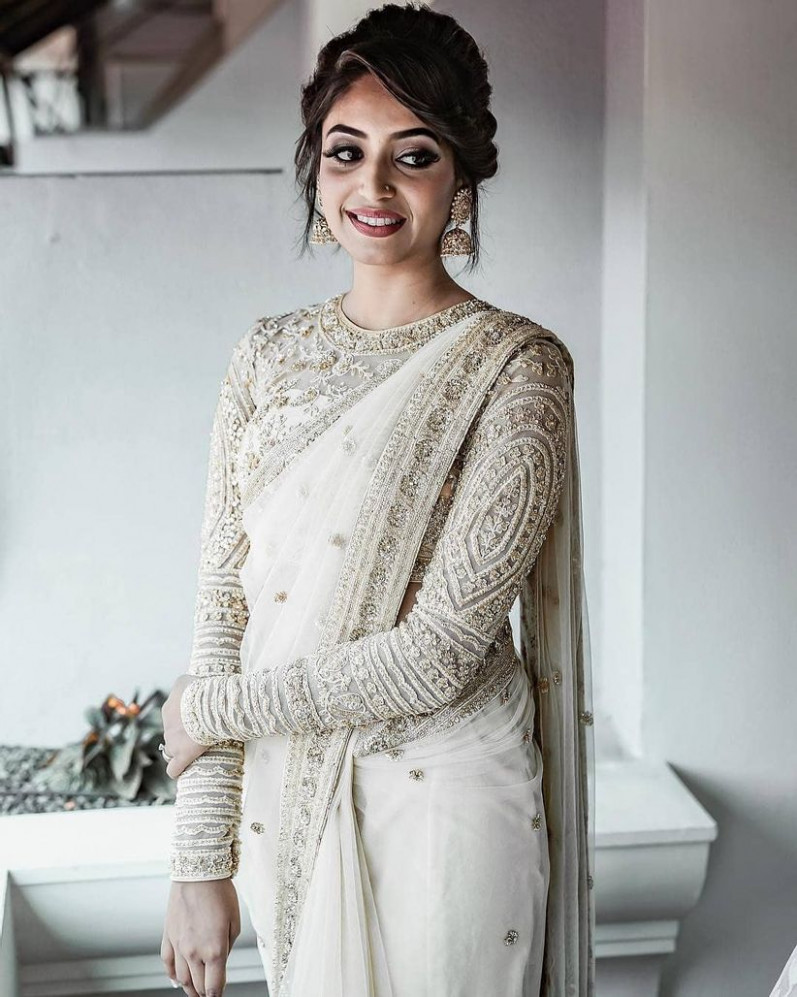 6 Ways to Don a White Saree for Wedding and Make a Bold