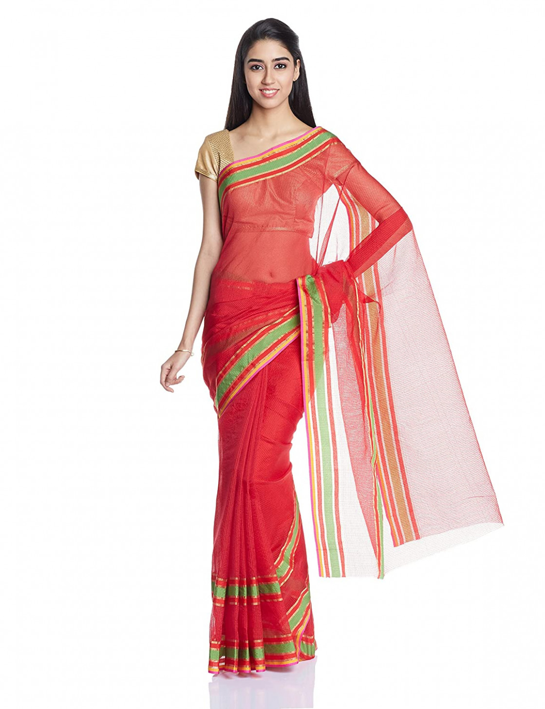 70% discount Boondh Net Saree with Blouse Piece @299 on  - amazon saree
