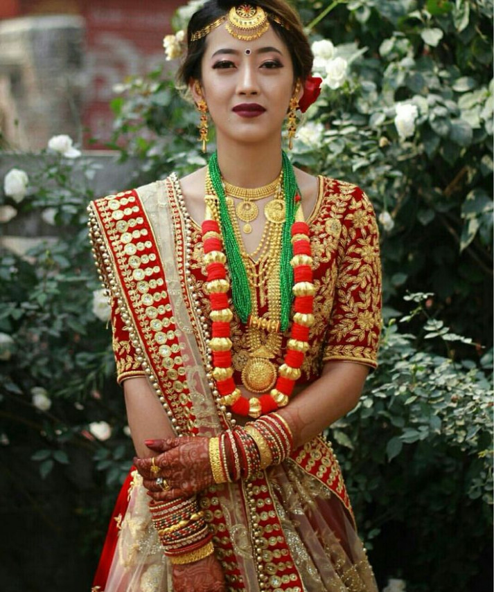 78 best Nepali weddings images on Pinterest  Bride makeup