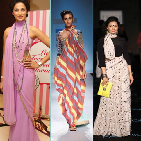 8 Dramatic Saree Draping Trends Slide 2, ifairer.com