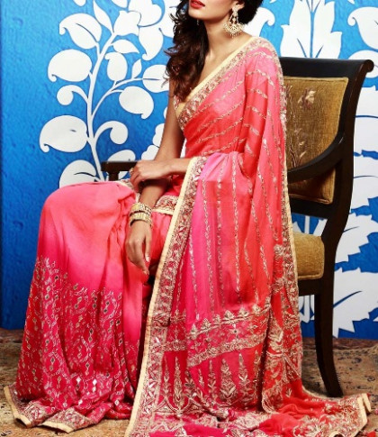 9 Beautiful Gota Patti Sarees With Pictures  Styles At Life