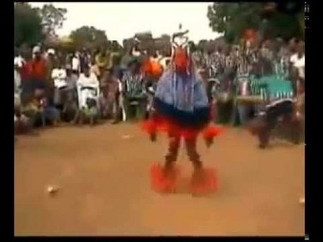 A dancing man on a stick - amazing african tribal dance