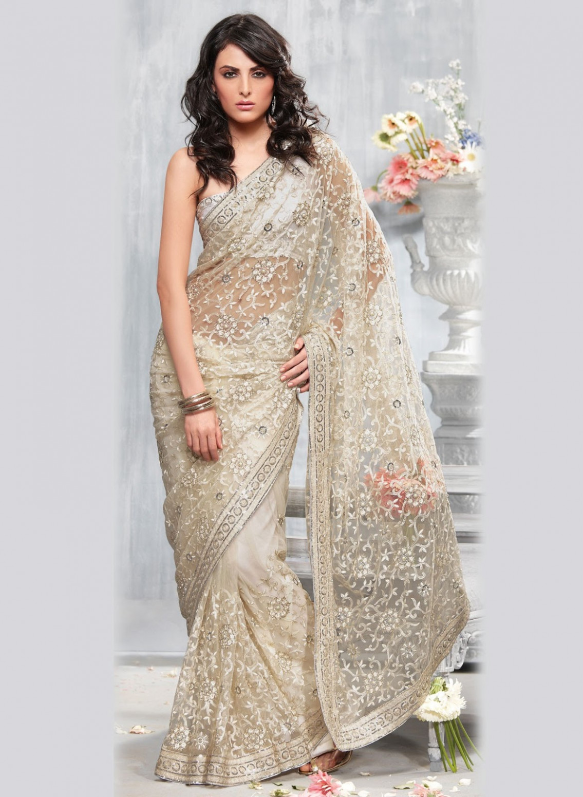 A WEDDING PLANNER: Party Wear Sares, Cocktail Sarees, Lace