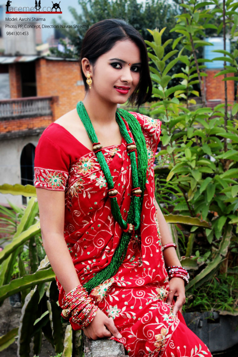 Aarohi in red saree  First nepali infotainment web