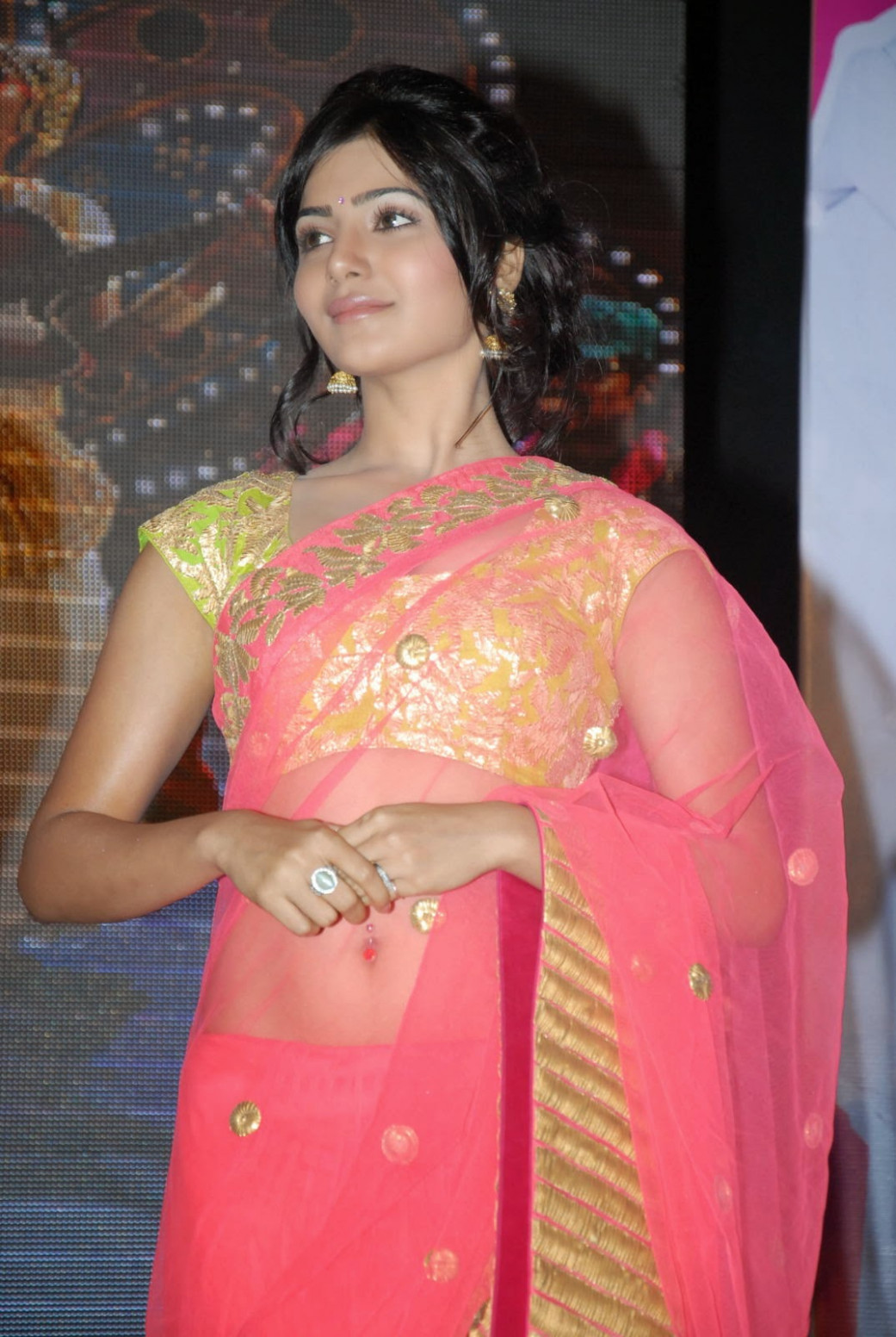 Actress HD Gallery: Samantha Cute saree HD Hot Photo