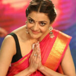 Actress Kajal Agarwal in Red Saree Photos 2017  Kajal