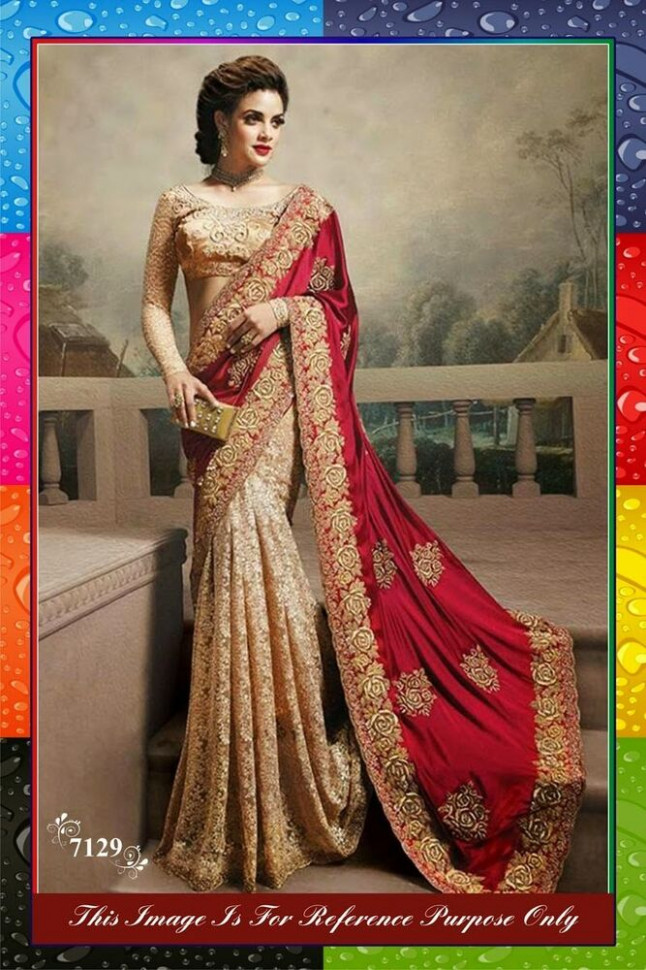 Actual pics listed- Indian Bollywood Designer Red Saree