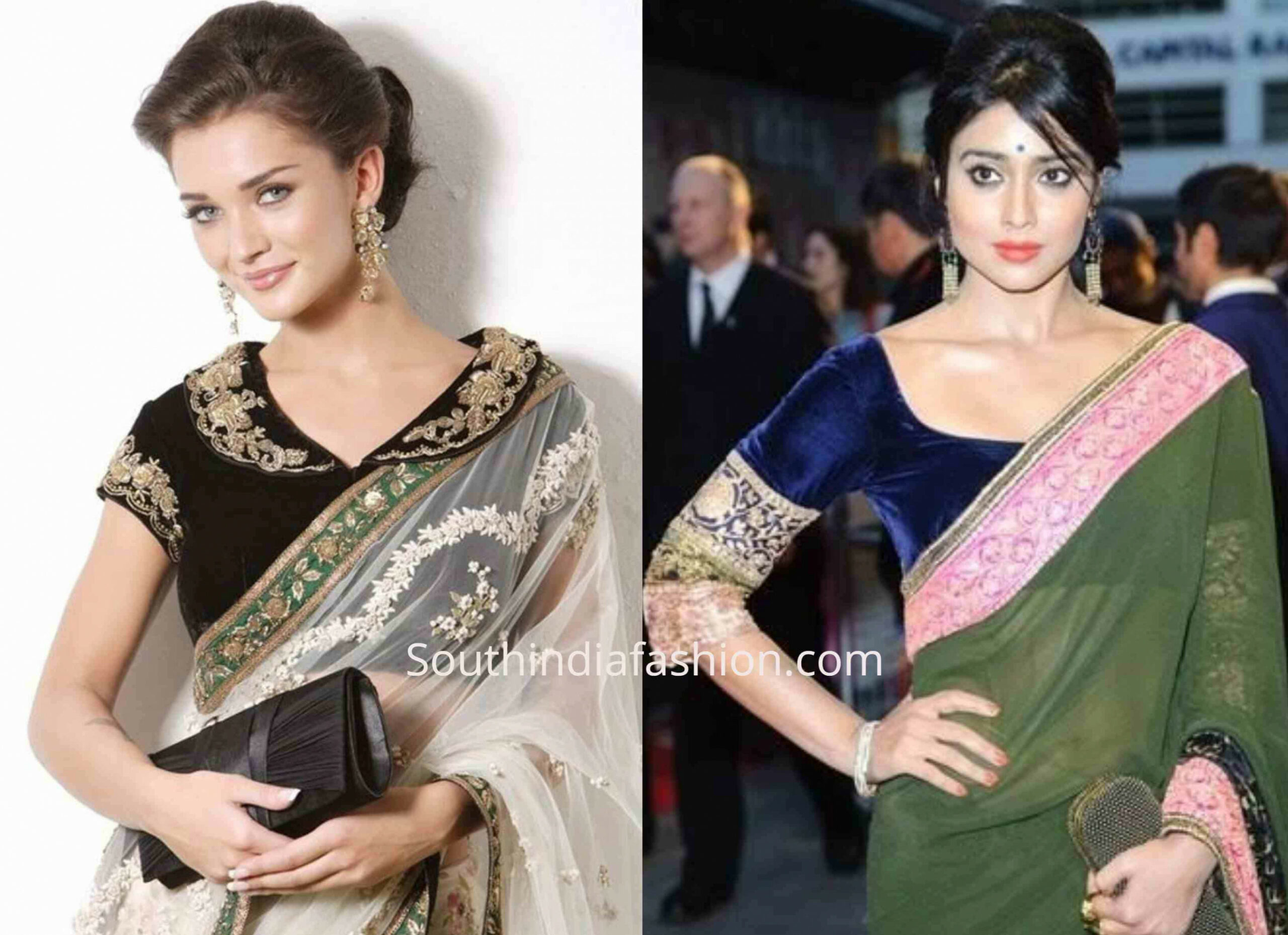 Add A Royal Touch To Your Sarees With Velvet Blouses!