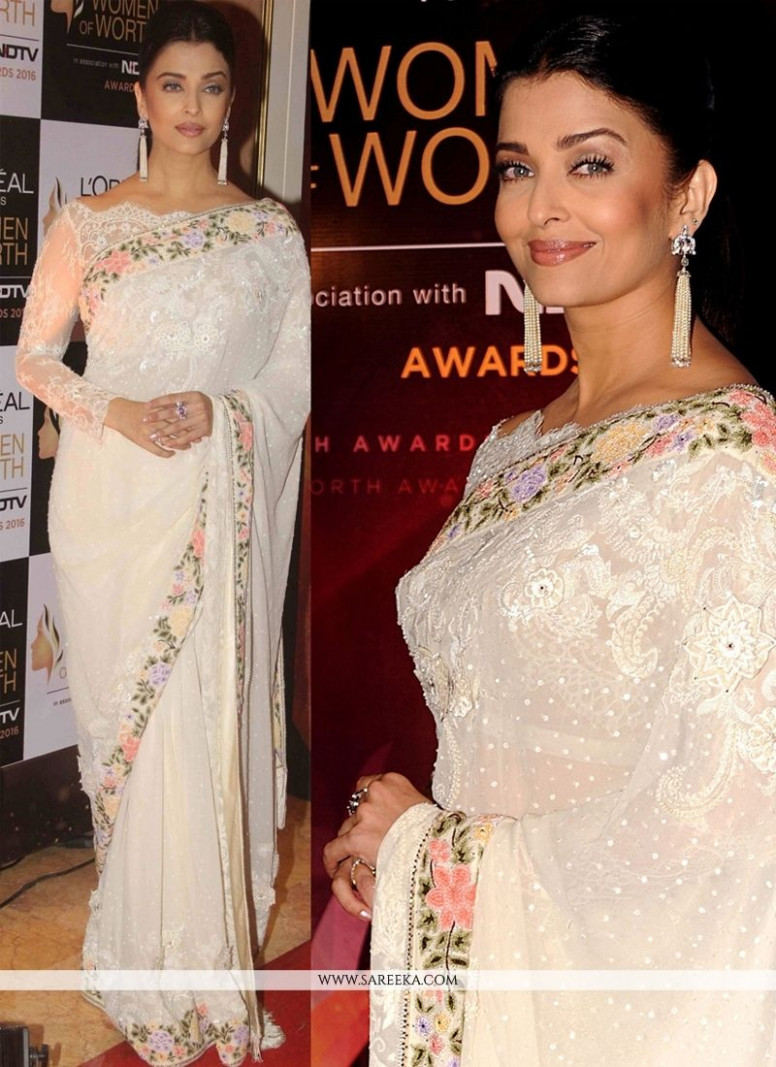 Aishwarya Rai Bachchan Georgette Bollywood Saree in 2020