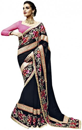 Amazon.com: Jay Sarees Designer Saree in stock clearence