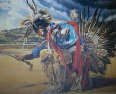 Amazon.com: Native American Indian Rain Dancer On Prairie