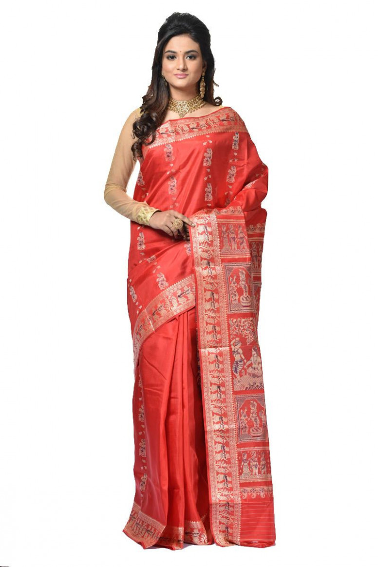 Baluchari Silk Saree (adi32921)