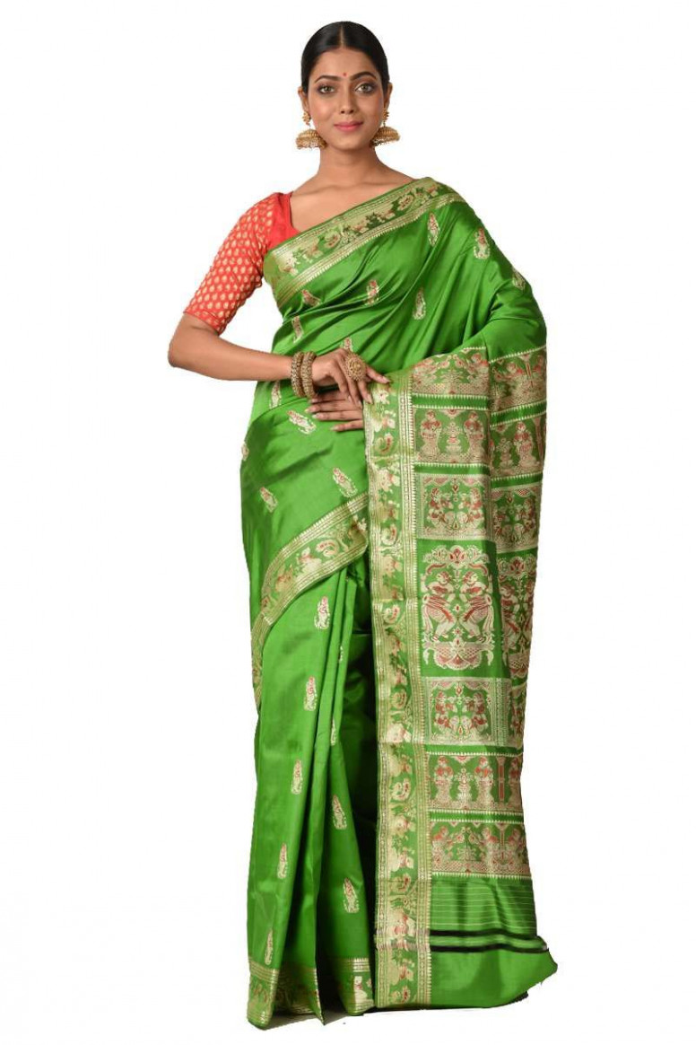 Baluchari Silk Saree (adi42822)