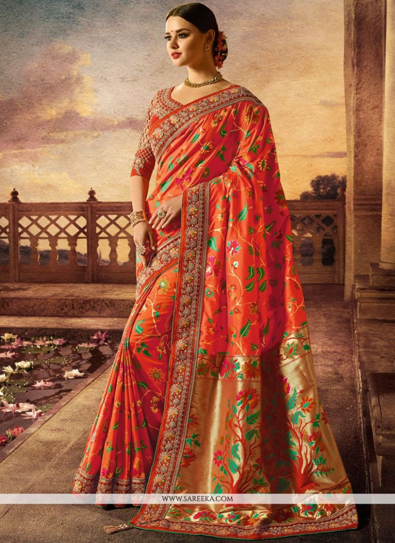 Banarasi Silk Traditional Designer Saree buy online