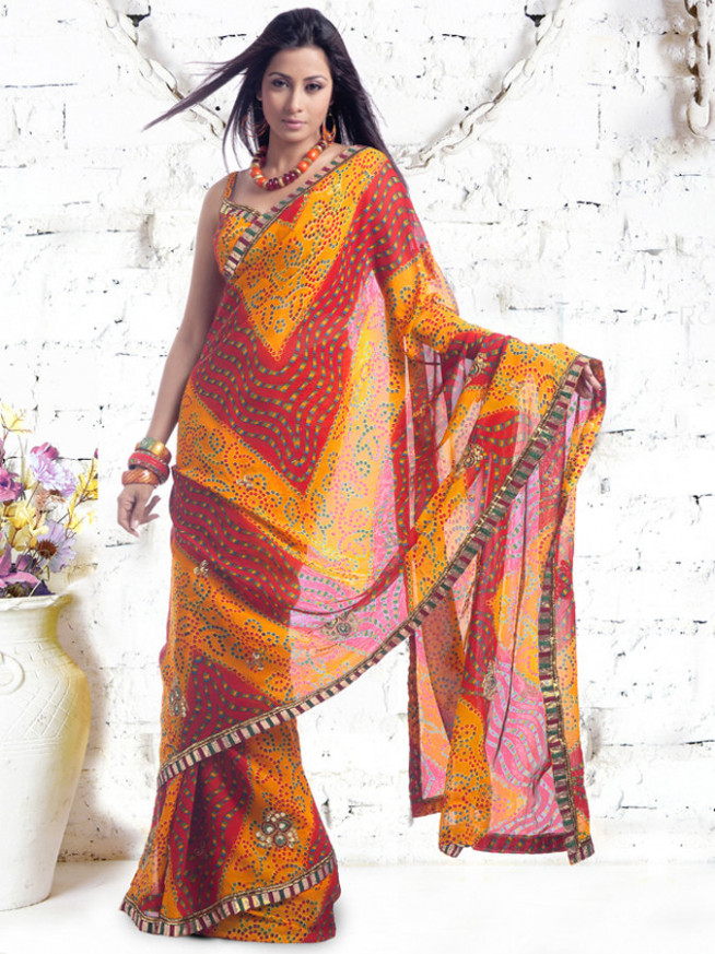 Bandhani Sarees All Over The India – Chiffon Bandhani Sarees