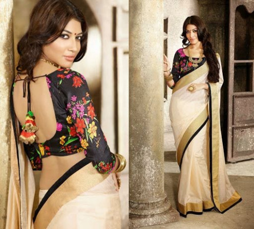 Beautiful Floral Print Blouse Designs - South India Fashion
