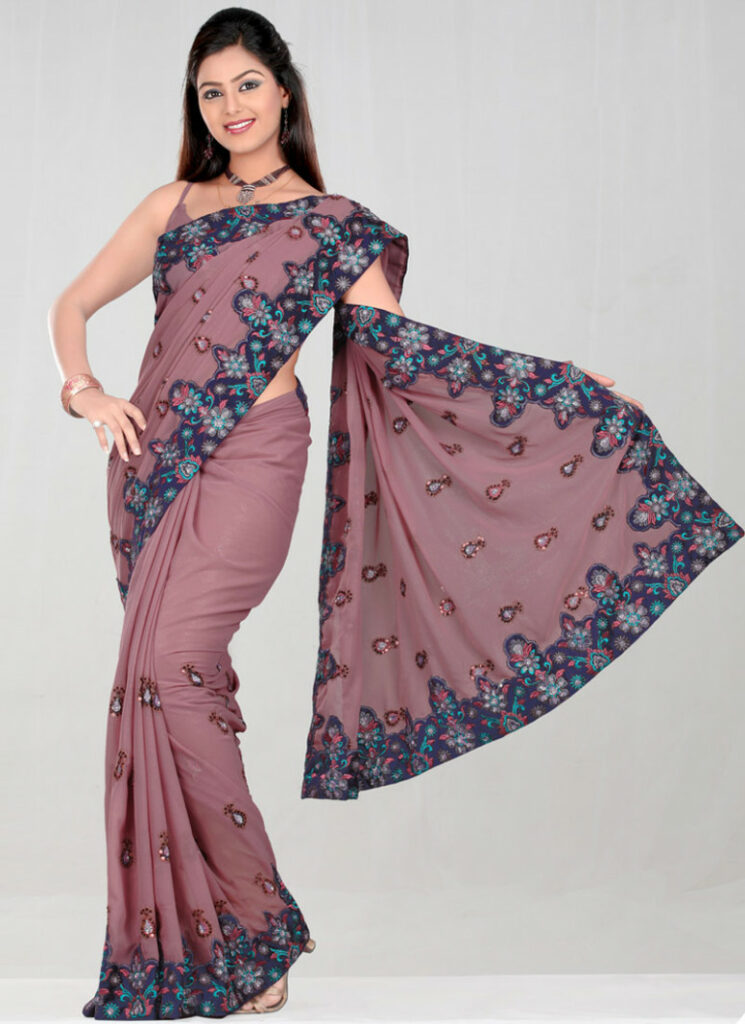 Beautiful Models Promotig Indian Sarees Latest Designs