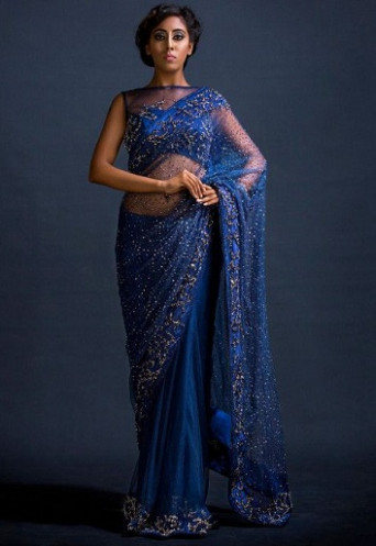 Beautiful Sequin Sarees - You Will Look Like A Modern Diva!