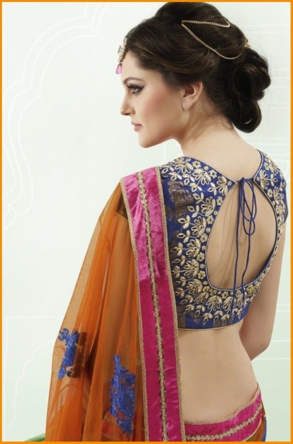 Best Saree Blouse Back Neck Designs 2016 #Saree #Blouse #