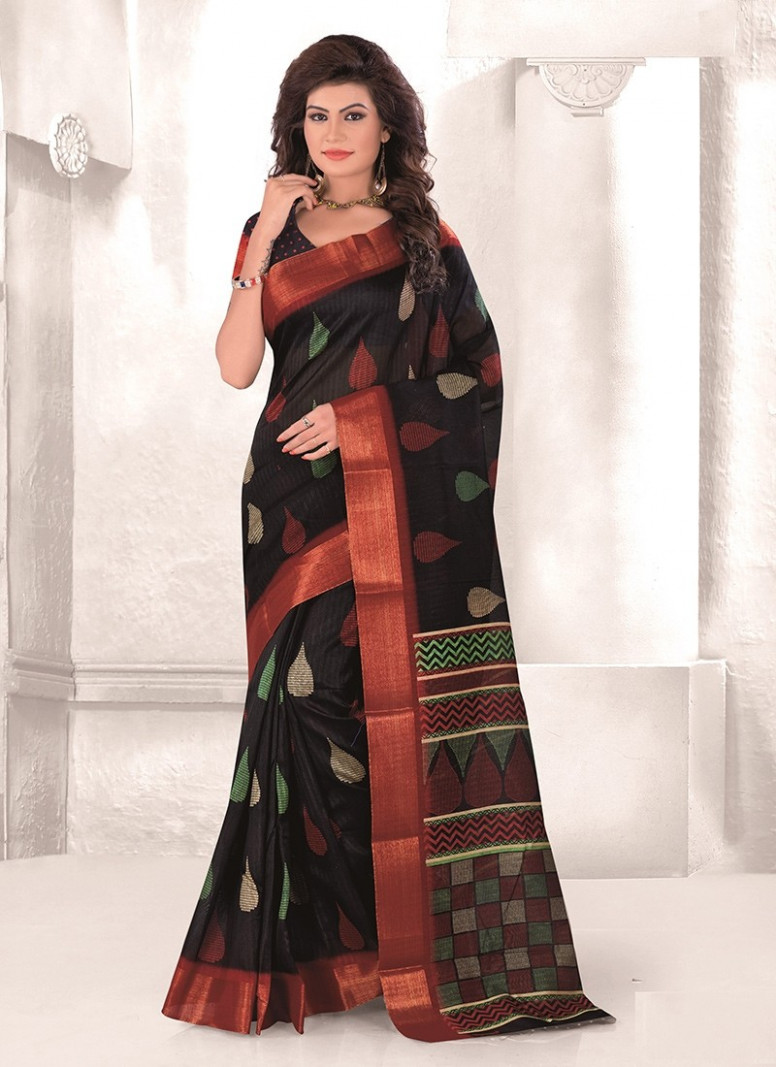 Black Mysore Udyog Saree