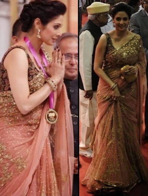 Bollywood Celebrities in Beautiful Designer Sarees Pics