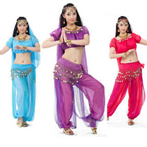 Bollywood Indian Belly Dance Costume Top Pants Outfit