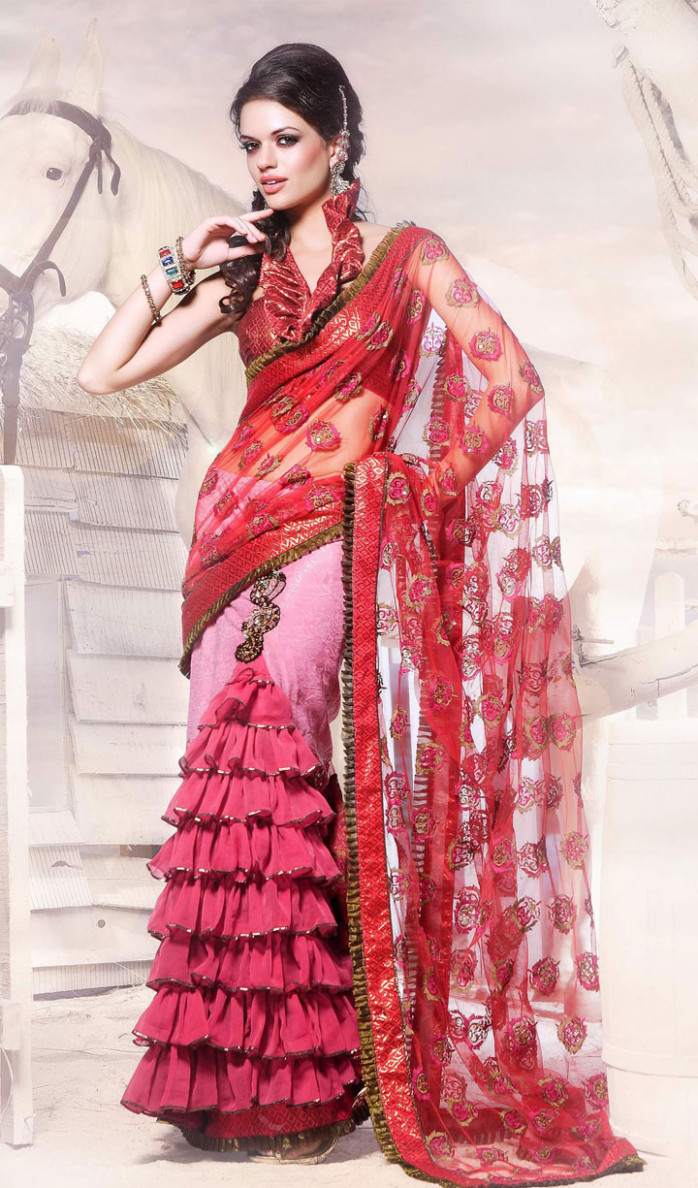 Bollywood saree  saree sari Indian sari navel saree