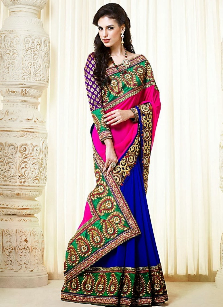 Bollywood Style Designer Embroidery Sarees - missy lovesx3