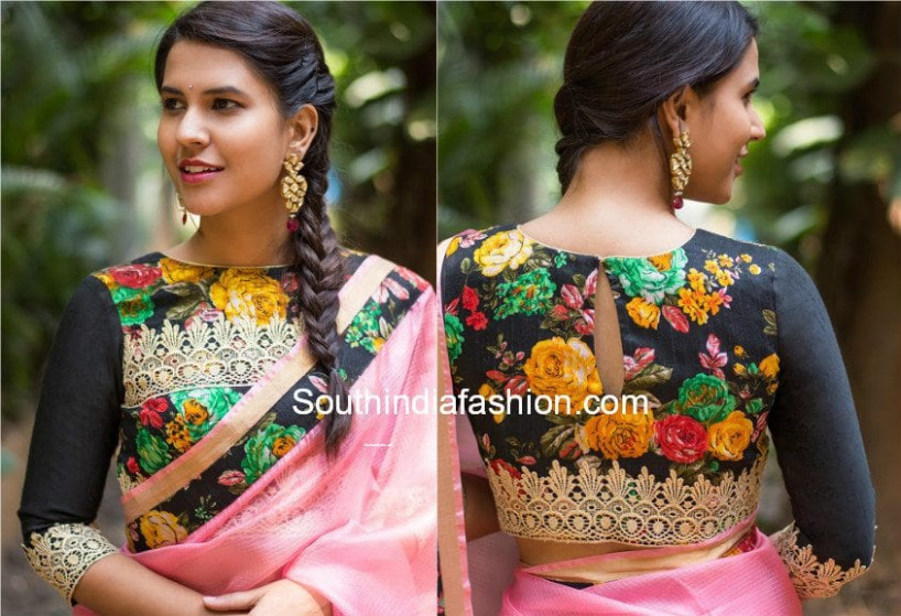 Bring Out Your Floral Blouses This Season – South India