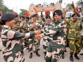 BSF celebrates I-Day, but no exchange of sweets with