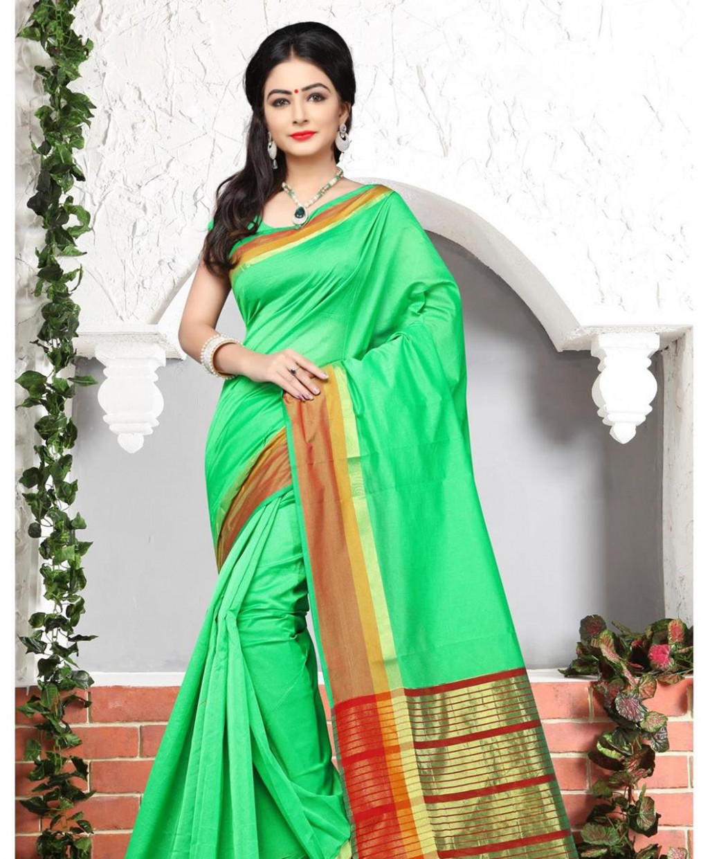 Buy Grand Green Casual Saree [105314] at 17.55 (AUD)