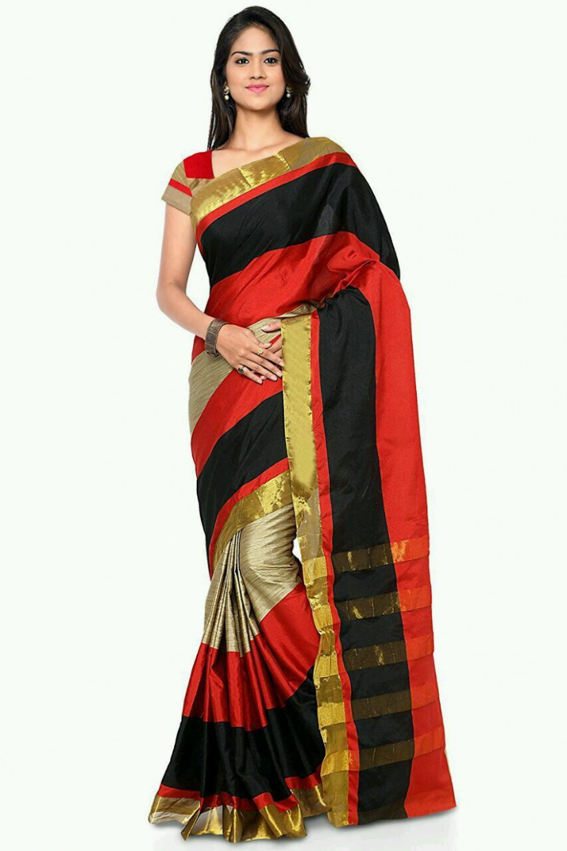 Buy Latest Designer Cotton Sarees Online in India - Kraftly