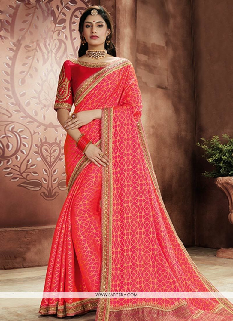 Buy Online Pink Designer Traditional Saree : 71576