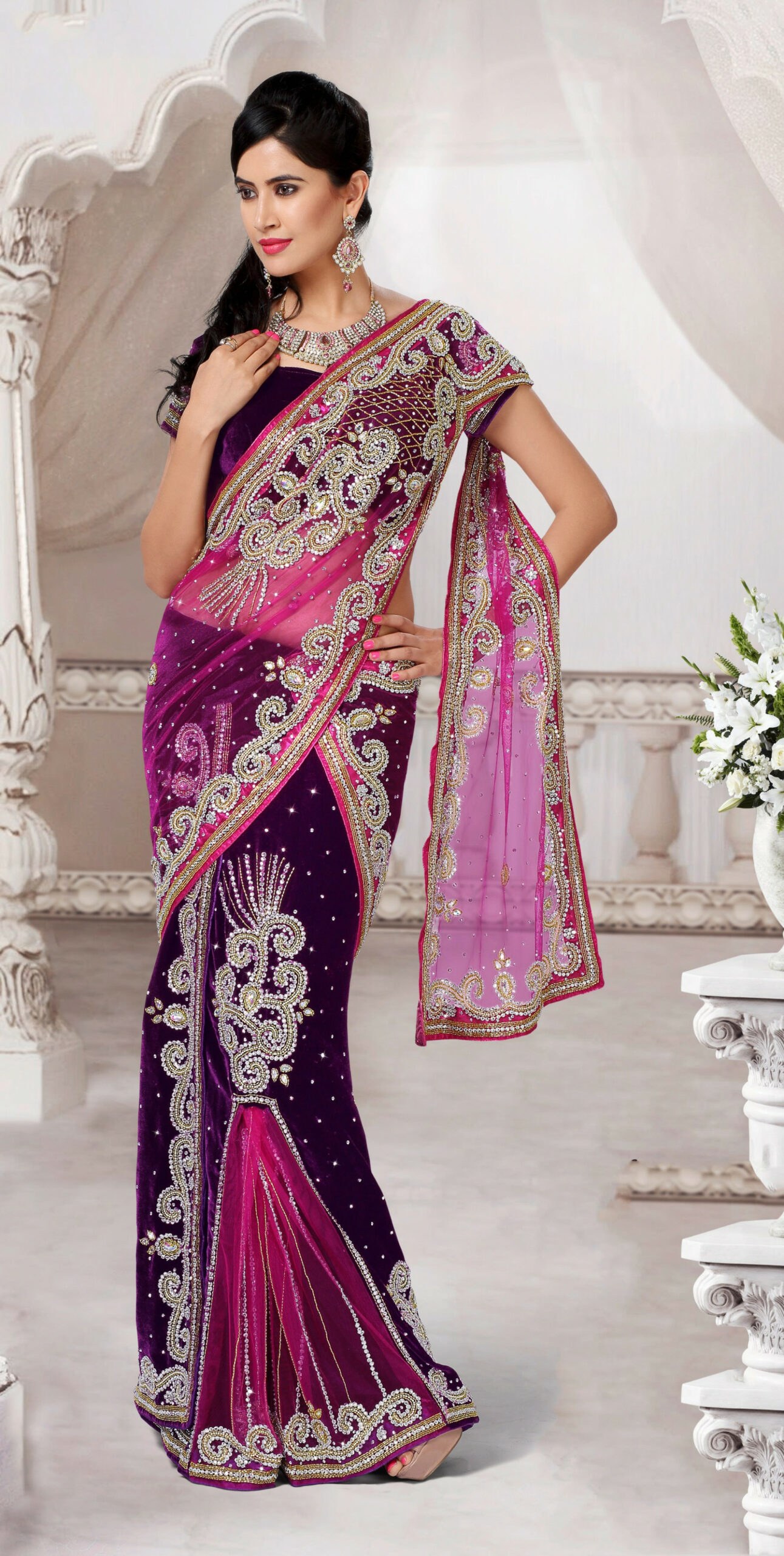 Buy Online Shopping Beautiful Designer Saree-Online Shopping-