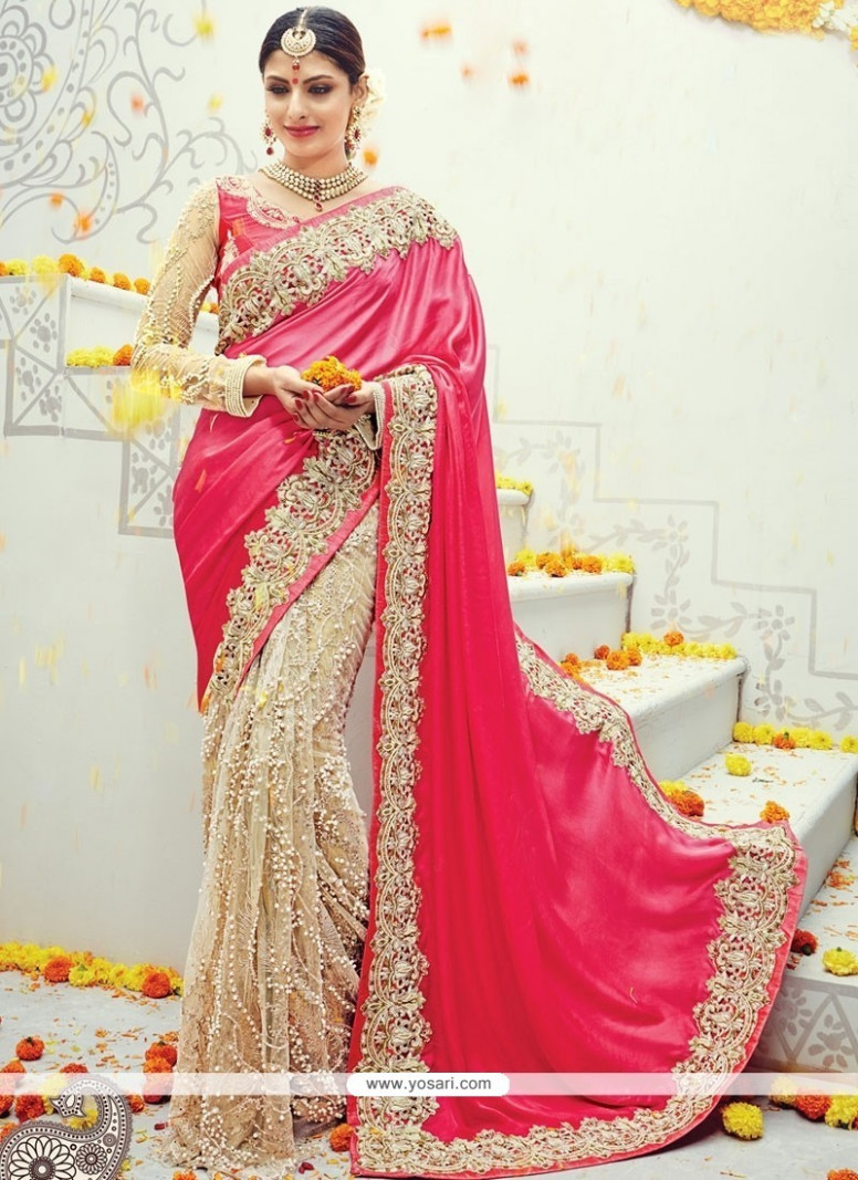 Buy Perfervid Beige Traditional Saree  Bridal Sarees