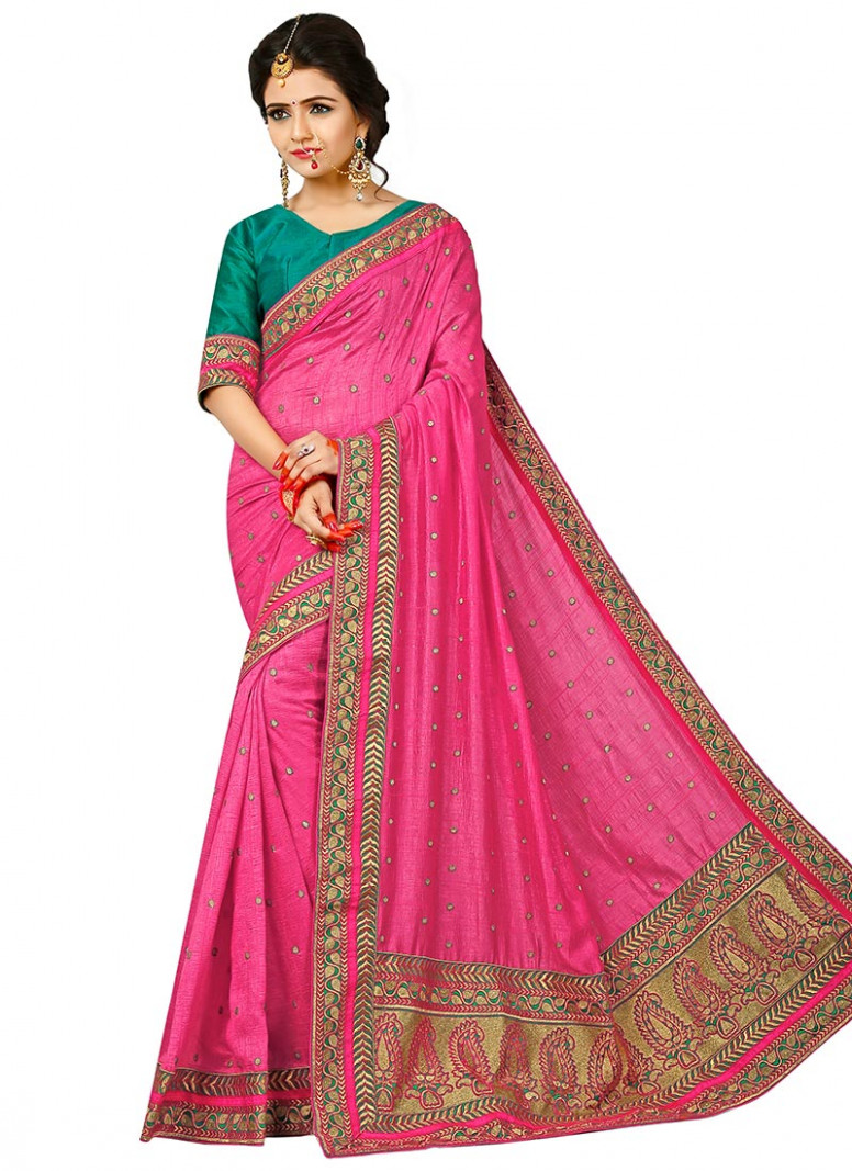 Buy Pink Art Silk Saree, sari Online Shopping, SASAZ4202B
