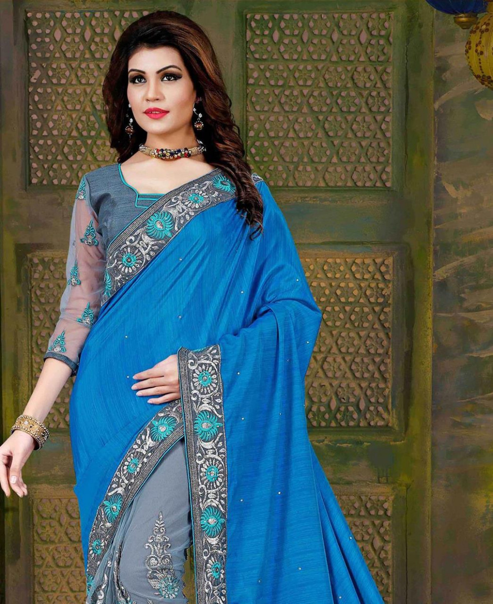 Buy Pretty Light Blue Casual Saree [98013] at 56.76 (FJD)