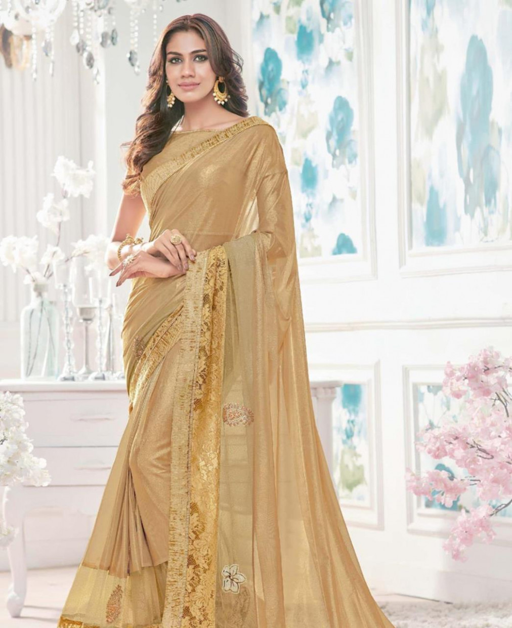 Buy Ravishing Gold Color Silk Saree [134971] at ₹ 3,850.92