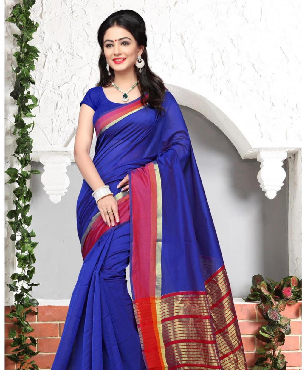 Buy Splendid Royal Blue Casual Saree [105311] at 17.55 (AUD)