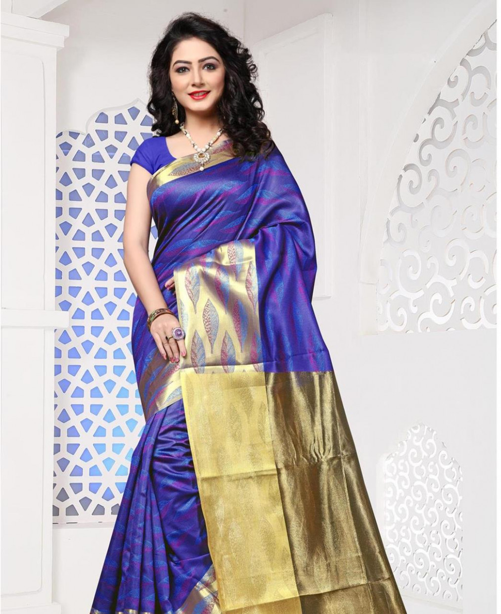 Buy Stunning Blue Casual Saree [105361] at 194.43 (ZAR)
