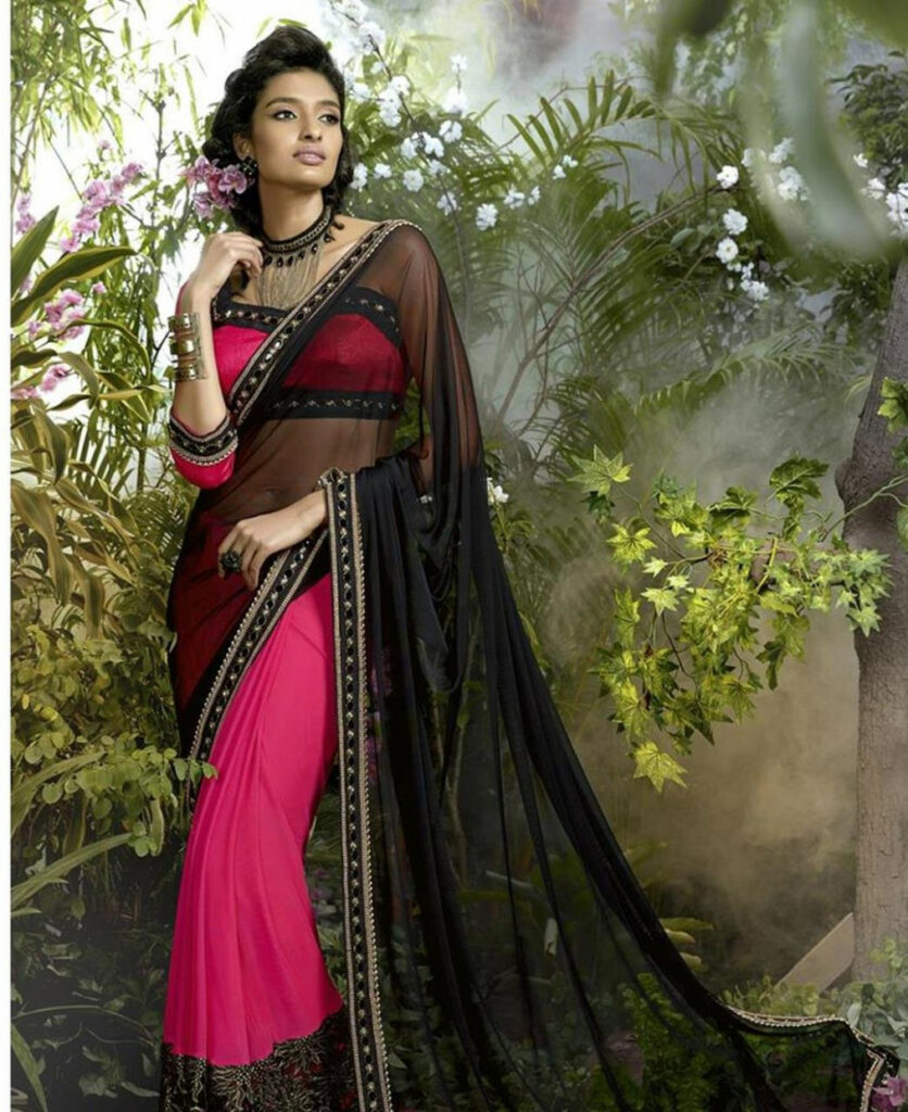 Buy Superb Black Net Saree [101730] at £76.75