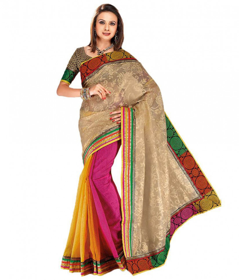 Cbazaar Multi Color Silk Ilkal Saree - Buy Cbazaar Multi