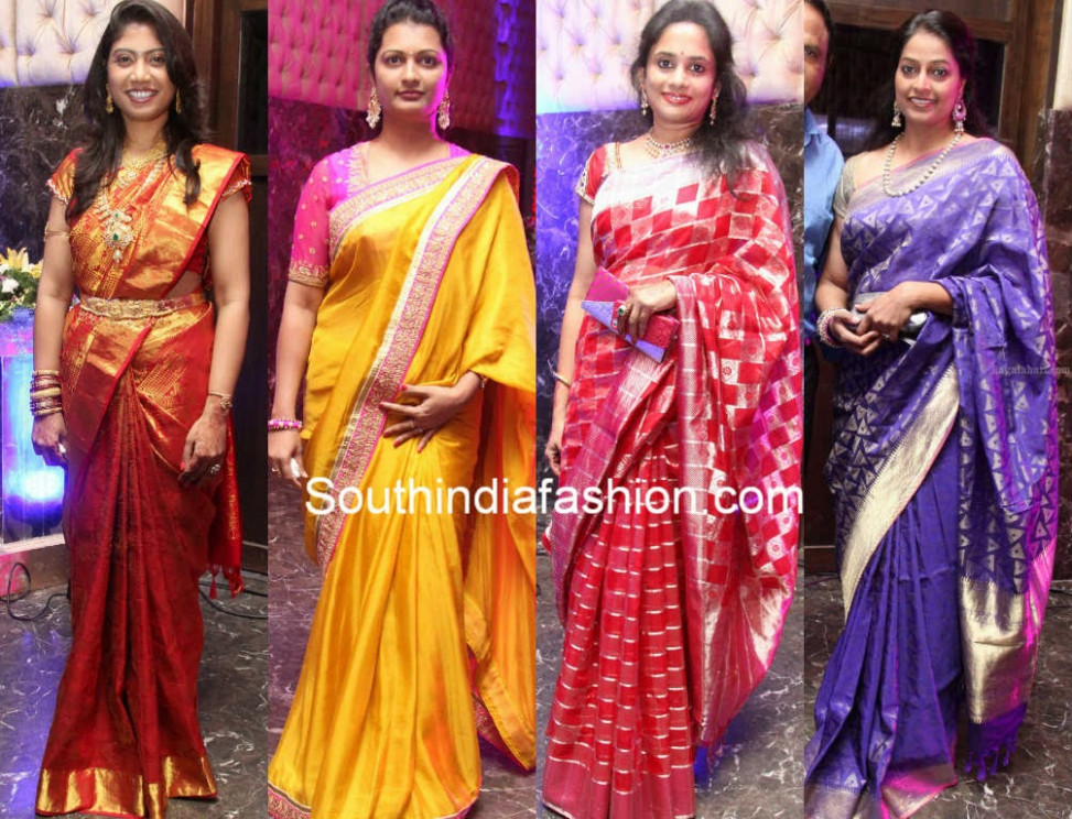 Celebrities in Beautiful Silk Sarees - South India Fashion