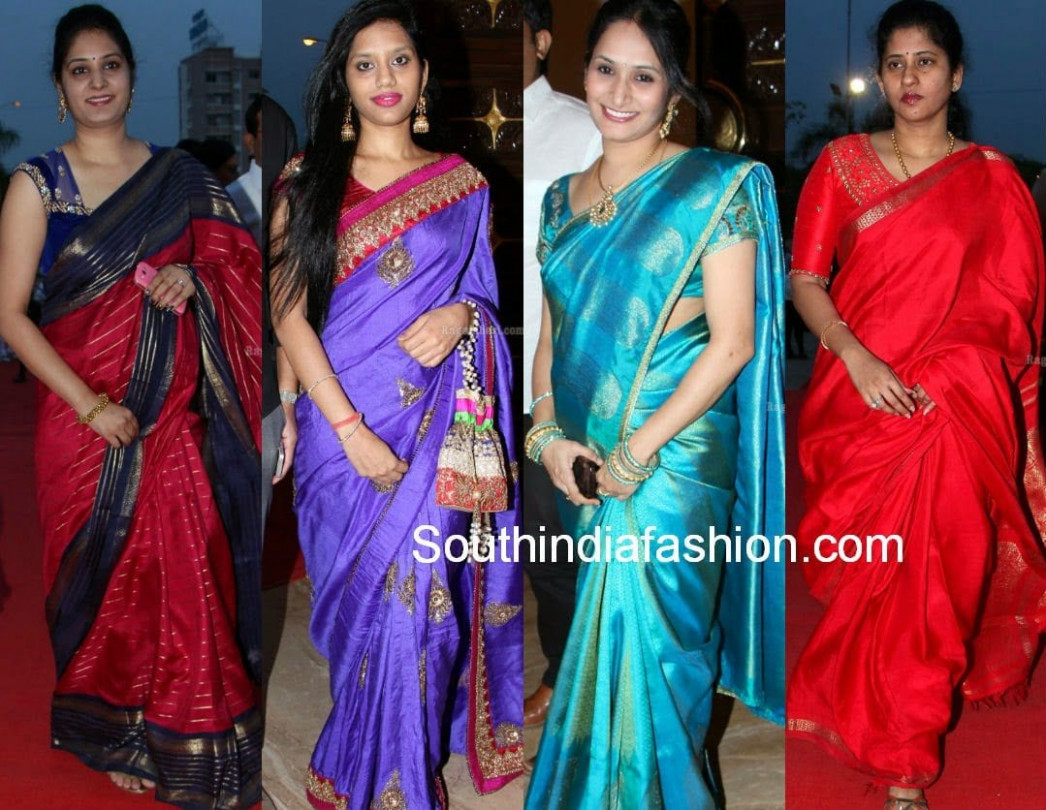 Celebrities in Silk Sarees – South India Fashion