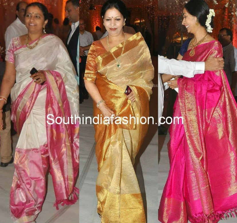 Celebrity Saree Styles – South India Fashion