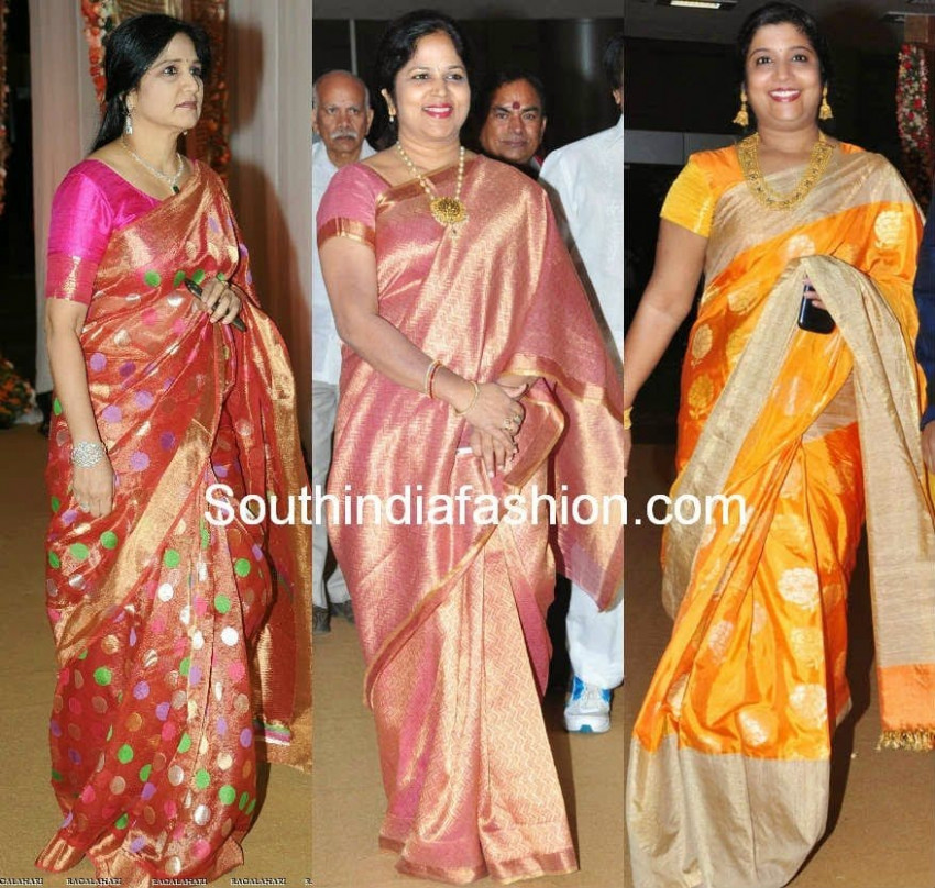 Celebrity Silk Saree Styles – South India Fashion